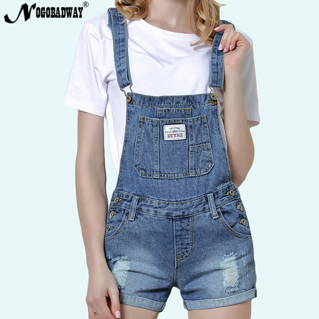 b37e8a2629 Short Denim Jumpsuit Romper Women Summer Overalls Casual Jeans Short  Playsuits Distressed Details Slim Dungarees Femme 2019 New