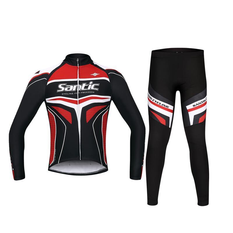 2017 Santic Spring Long Sleeve Cycling Jersey Set Road Bike Clothing Cycling Suits Men Cycling Long Sleeve Set Sets WSM143F1001R  santic cycling men s downhill ridet shirt long jersey long sleeve white