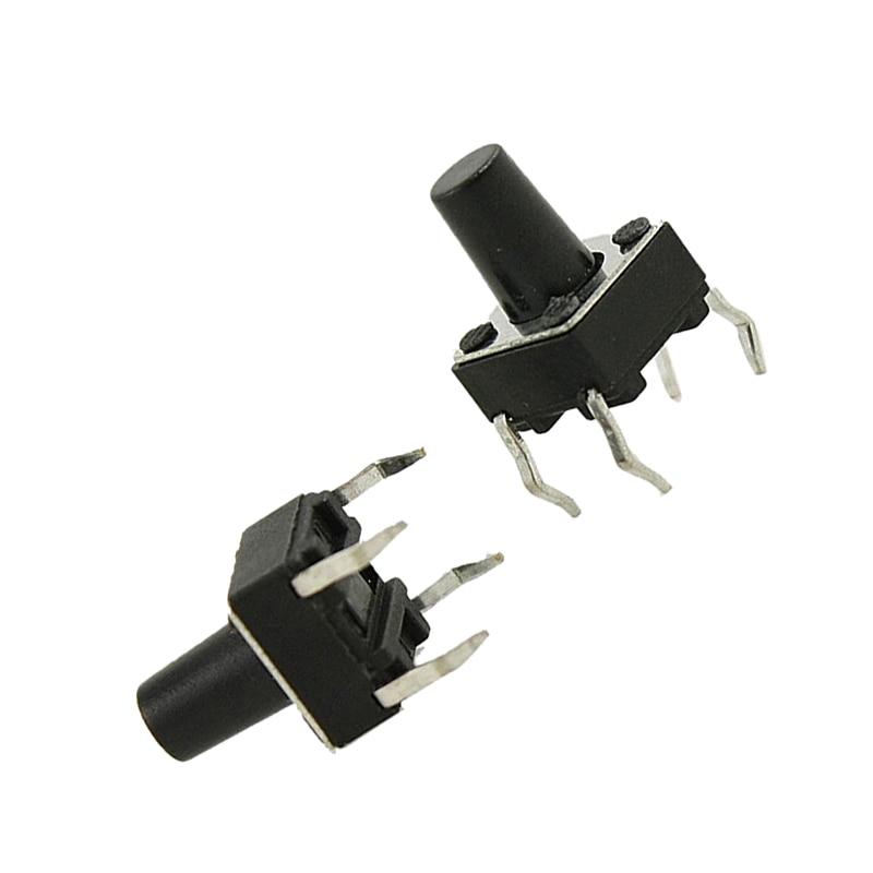 JFBL Hot 100 Pcs 6 x 6mm x 8.5mm PCB Momentary Tactile Tact Push Button Switch 4 Pin DIP