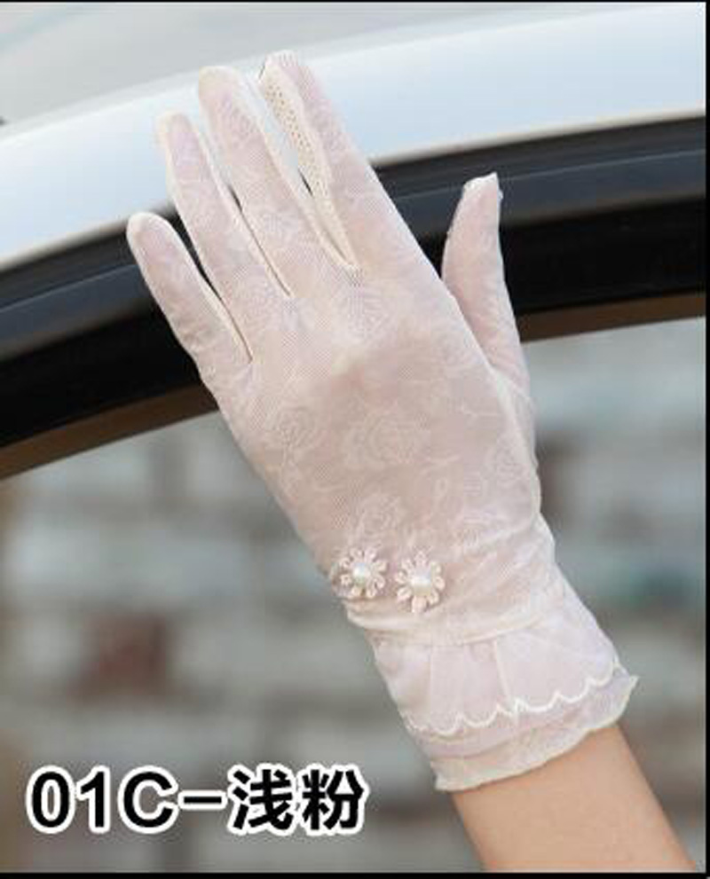 HTB15f54RFXXXXcQaXXXq6xXFXXXt - Sexy Summer Women UV Sunscreen Short Sun Female Gloves Fashion Ice Silk Lace Driving Of Thin Touch Screen Lady Gloves G02E