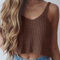 2017 Summer Women Camis Clubwear Fashion Spaghetti Strap O-neck Knitting Sexy Crop Tops Sleeveless T-Shirt Women Tank 41
