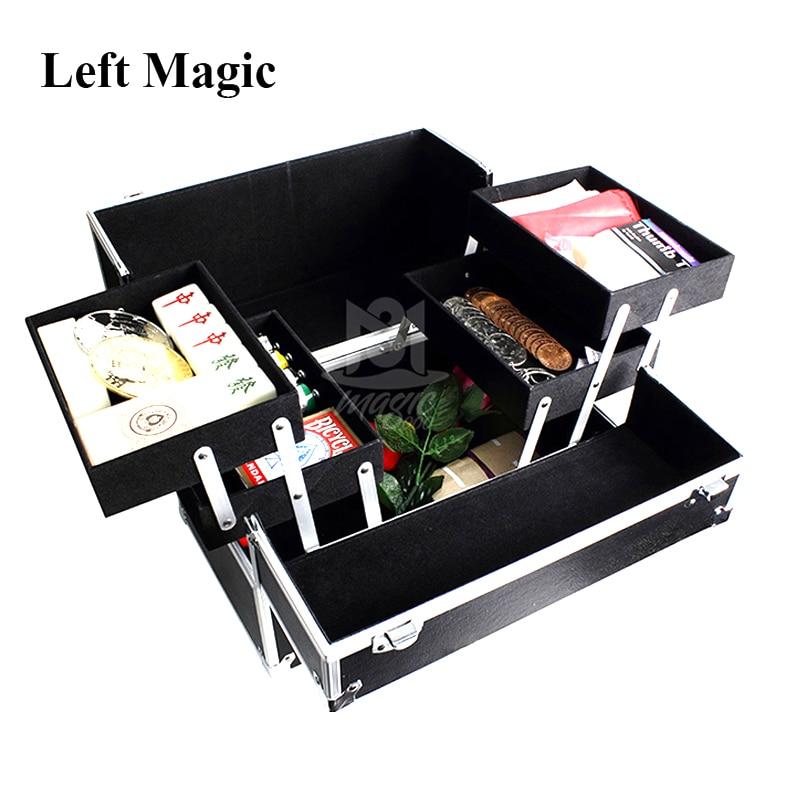 Boîte de rangement magicienne tours de magie scène gros plan accessoires Gimmick Flexible facile à transporter tenir les accessoires en Performance