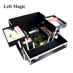 Magician's Storage box Magic Tricks Stage Close Up accessories Gimmick Flexible Easy to carry Hold Props in Performance