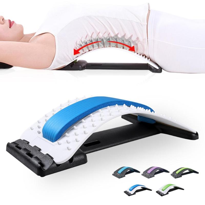 Back Massage Stretcher Stretching Device Spine Traction Waist Neck Relax Mate Pain Relief Lombard Disc Herniation Support