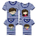1Piece Family Clothes 2016 Tshirt Mamma E Figlia Estate Mother To Be Striped T-shirts Family Baby Father Mother Matching Outfit