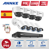 ANNKE 10 1 LCD 4CH 720P 960H DVR NVR HVR CCTV 900TVL Security Camera System 1TB