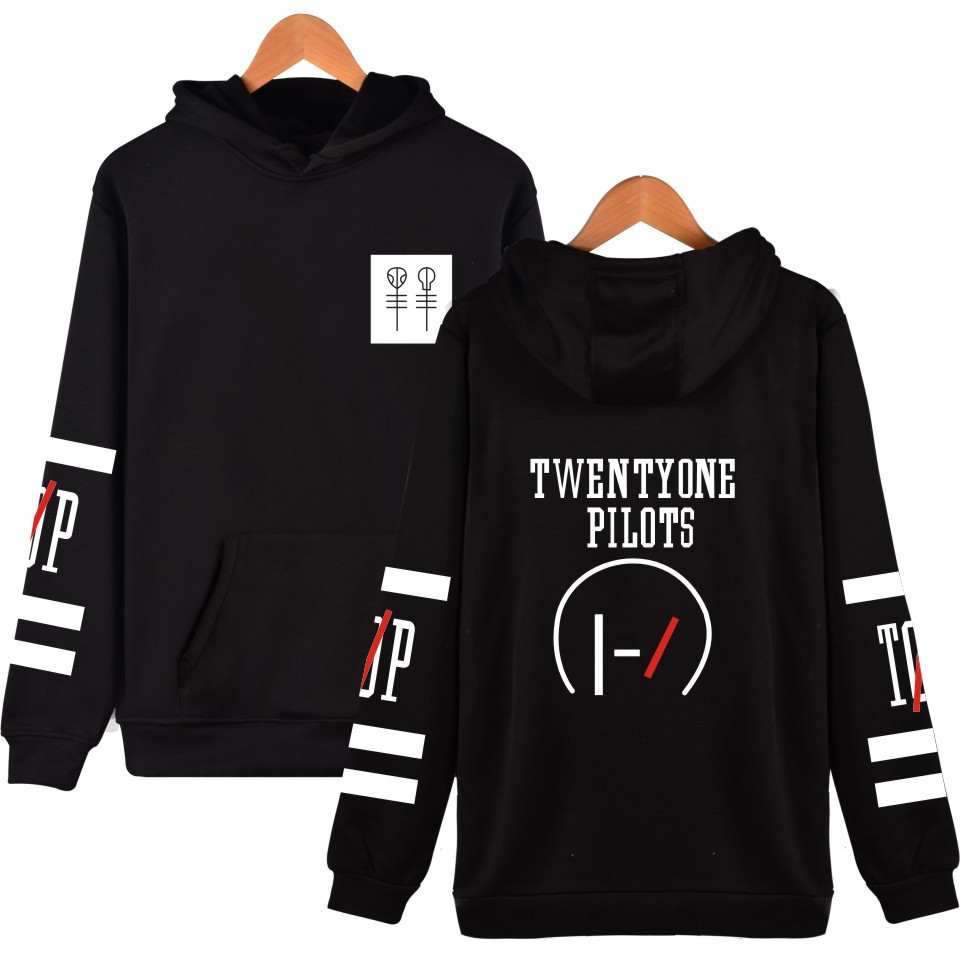 Twenty One Pilots Hoodeis And Sweatshirts 2019 Drop Shipping Funny Cotton Hoodies Clothes Long Sleeve Black White Pullovers