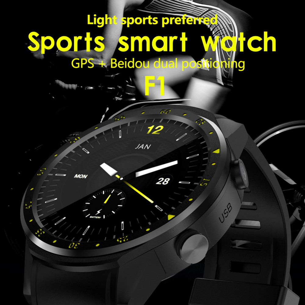 2020 New Bluetooth 4.0 Full Round High definition IPS Touch Screen Chip Smart GPS Sports Watch Phone for IOS /Android /Samsung - 2