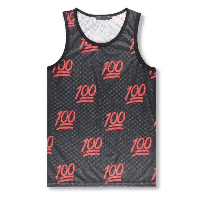 3917a48f7fedb Summer Mens Fashion Tank Top 3D Print Emoji 100 Funny Vest Fitness  Single-layer Mesh Tops Blusa Masculina Sleeveless Shirt