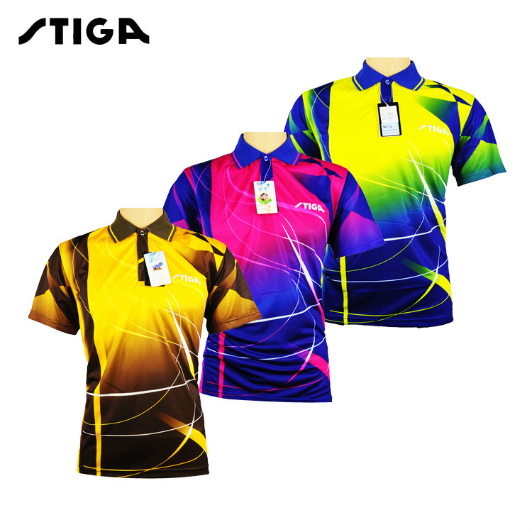 Original STIGA Table tennis clothes for men and women clothing T-shirt short sleeved shirt ping pong Jersey Sport Jerseys(China)