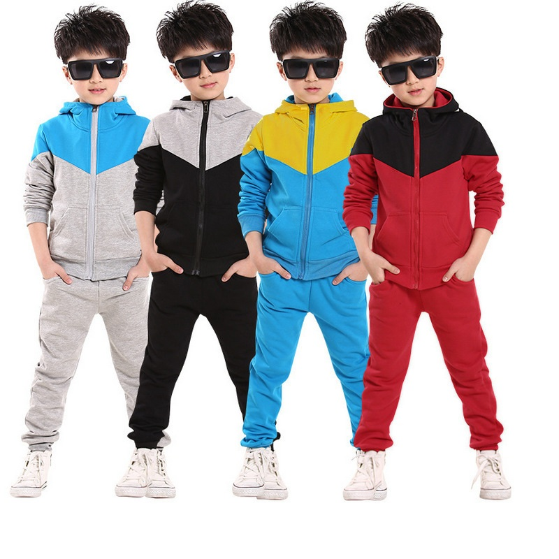 Children Clothes Set Spring/Autumn Sports Clothing suit 2 pieces Hoodies+Pants School Boys Sports Suit 4-7 Years Kids Clothes 2016 hot children clothing set baby girls boys autumn spring suit hoodies pants cartoon clothes kids sportswear kids clothes