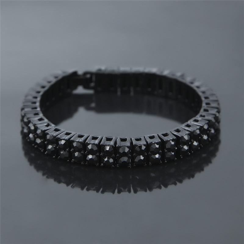 8mm Jewelry Gifts Bling Iced Out 2 Row AAA Rhinestone Bracelets Women Man  Golden Rhinestones Hip Hop Tennis Chain Bracelet Men-in Chain   Link  Bracelets ... 6c4f59da43b5
