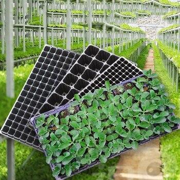 16e323c7413 Células plántulas bandeja de arranque resistencia germinación planta flor  macetas crece la caja propagación para jardín 72/105 /128