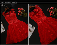 New Fashion Dress Princess Dresses Party Women S Clothing Lace Red Champagne XS XL Free Shipping