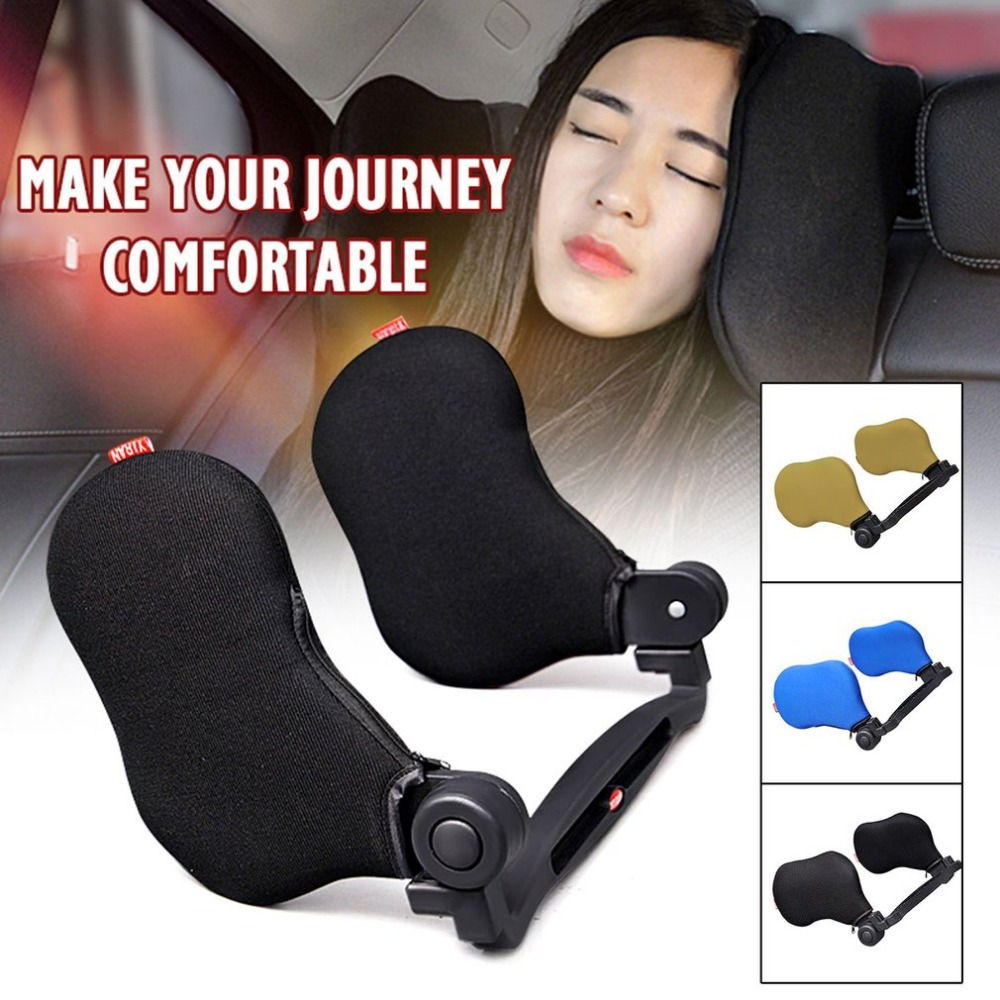 High Elastic Nylon Car Seat Headrest Neck Pillow Adjustable Safety Seat Support Neck Rest Cushion Pad Car Styling