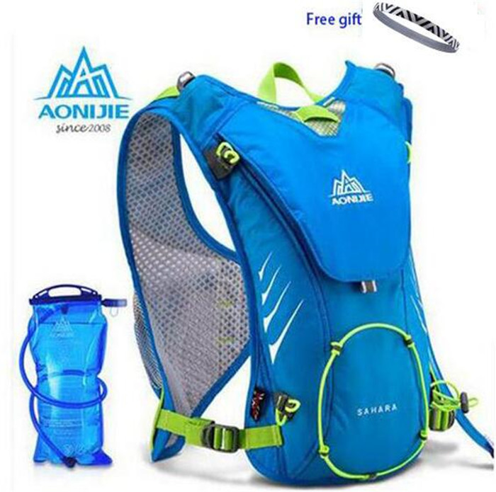 AONIJIE Trail Running Nylon Backpack 8L Outdoor Lightweight <font><b>Hydration</b></font> Water Pack Sport Bag for Climbing Cycling Hiking