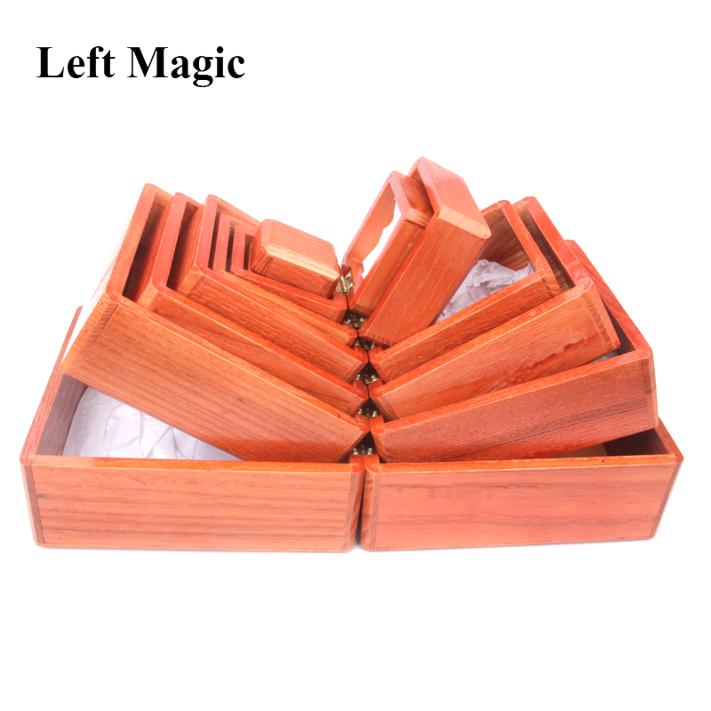 Nest Of Boxes - Wooden  Wooden Chinese Box Magic Tricks Vanished Object Appearing In The Box Stage Illusion Gimmick Props Funny