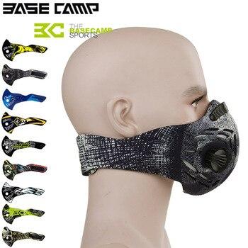 をベースキャンプサイクリングマスク口マッフル自転車マスク防塵防塵自転車スポーツトレーニングフィルターマスク MTB アクセサリー
