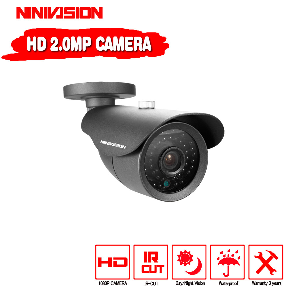 NINIVISION HD Analog Waterproof Outdoor 2MP AHD Camera 1080P CCTV Camera Night Vision Security Cam IR Cut Work For AHD DVR security analog hd 2mp 1080p ahd camera indoor ir 15m ir cut filter dome cctv 2 0mp ahd camera work for ahd dvr