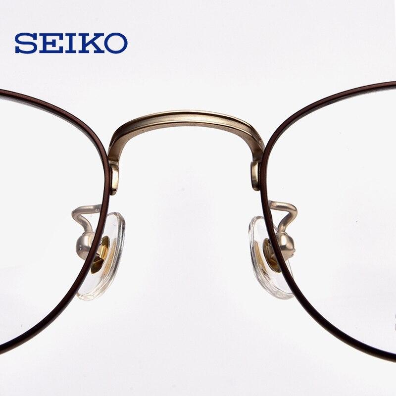 SEIKO titane lunettes cadre lunettes de Prescription hommes lunettes dioptriques lunettes optiques lunettes correctrices cadre avec lentilles - 5