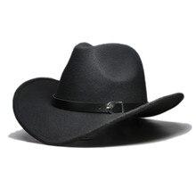 LUCKYLIANJI Men Women Unisex Country Cowboy Western Leather Band Hat Fedora Tril