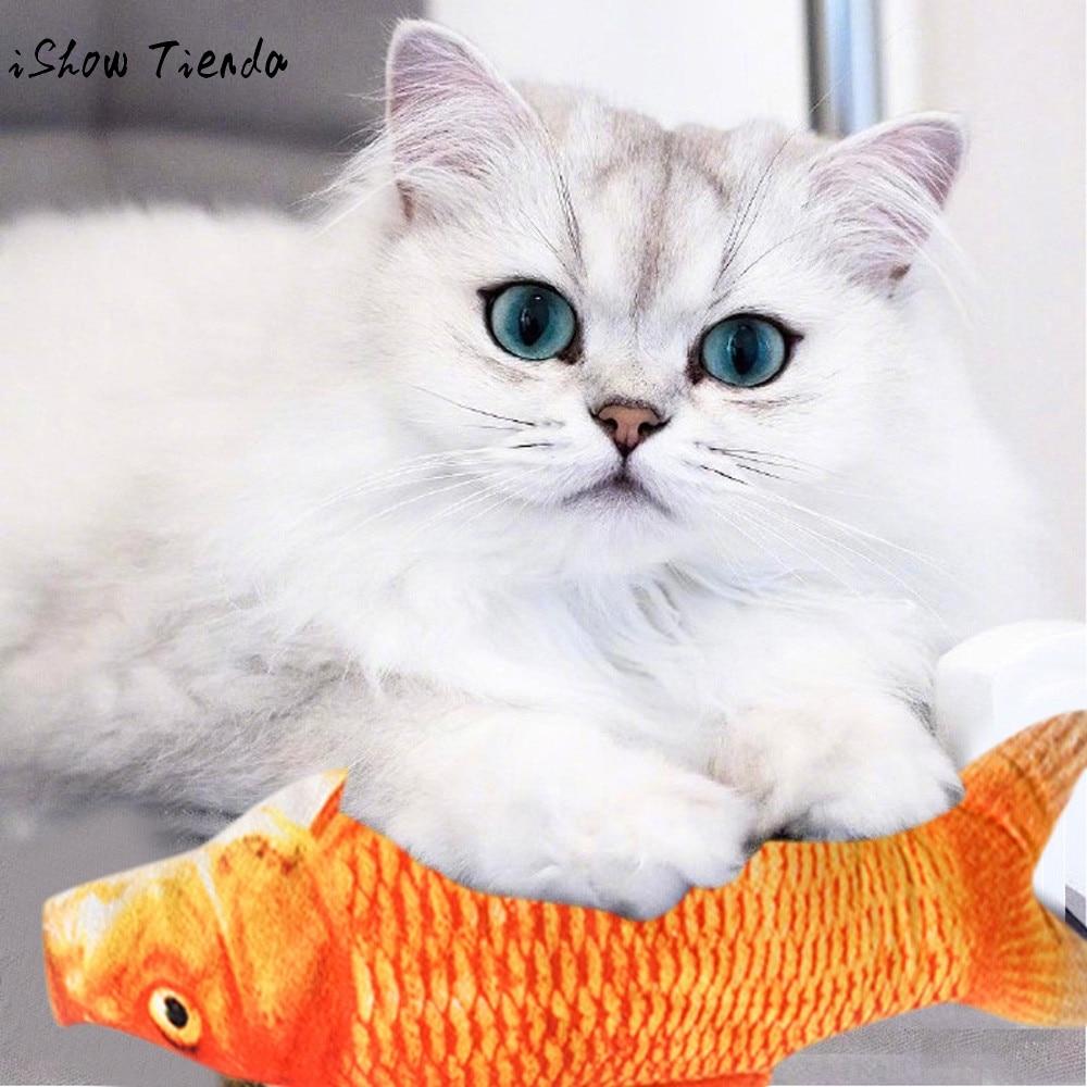 Red Carp Pet Cat Kitten Fish Shape Interactive Cats