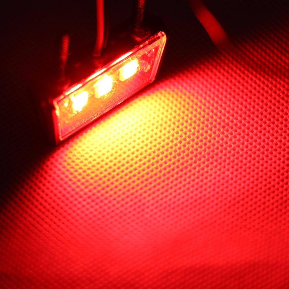 Universal Motorcycle Registration License Plate Holder LED Light For ...
