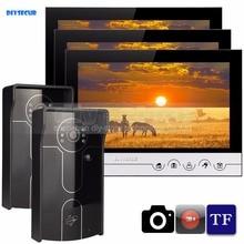 DIYSECUR 9inch Video Record/Photograph Video Door Phone Doorbell Waterproof HD RFID Camera Home Security Intercom System 2V3