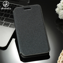 AKABEILA For ASUS ZenFone Go ZB500KL ZB500KG Case Smart View Sleep Wake Leather Phone Cases Flip Cover Back Houisng
