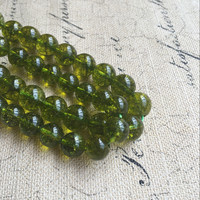 8mm 12mm 1Strand Pack Natural Olivine Peridot Loose Bead Strands Semi Precious Stone Jewelry Beads