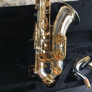 Image 2 - 100% sevenangelブランドテナーサックスbbトーン木管楽器シルバー & ゴールド表面提供oemサックス