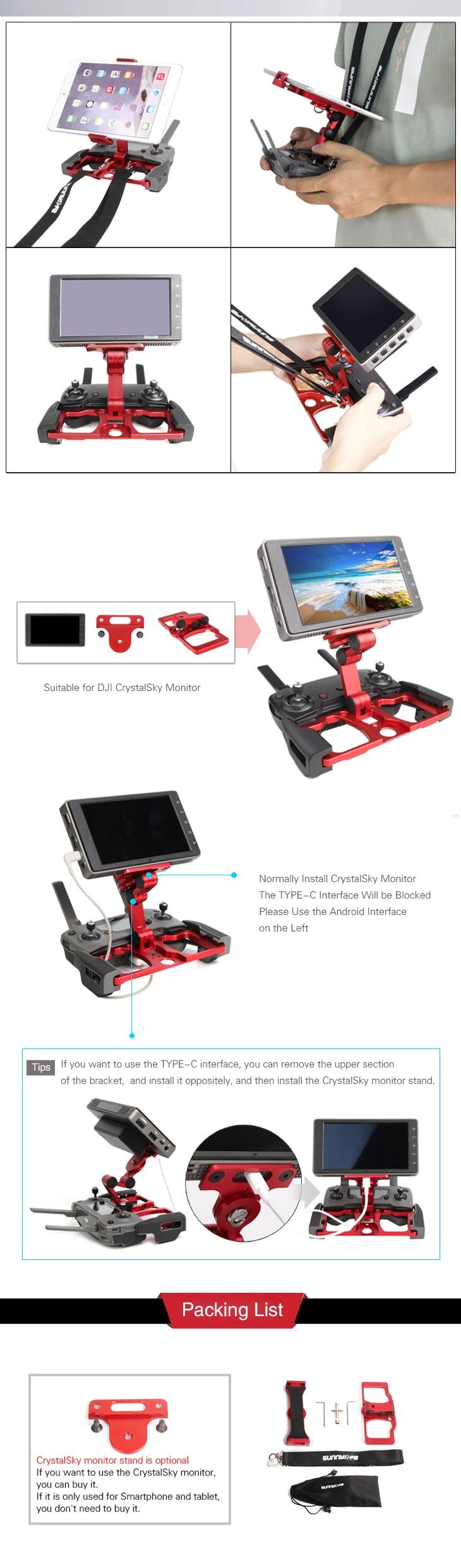 Sunnylife atualização telefone tablet clipe crystalsky monitor