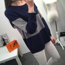 Kesebi 2018 Autumn Winter New Hot Fashion Female O neck Warm Panelled Knit Pullovers Women Casual