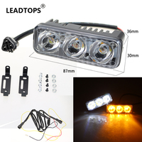 LEADTOPS Car Led Turn Signal DRL Daytime Running Turn Lights Fog Lamp With Strobe Work Lamps