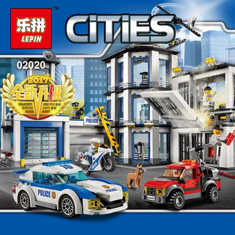 NEW Lepin 02020 City Series legoinglys Police Station children Educational Building Blocks Brick Funny Toys Model Gift 60141 407pcs sets city police station building blocks bricks educational boys diy toys birthday brinquedos christmas gift toy