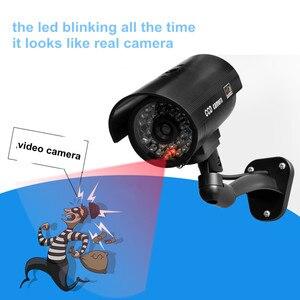 Поддельные пустышки камеры безопасности CCTV Открытый водонепроницаемый Emulational Decoy IR светодиодный Флешка wifi красный светодиодный Манекен камеры видеонаблюдения