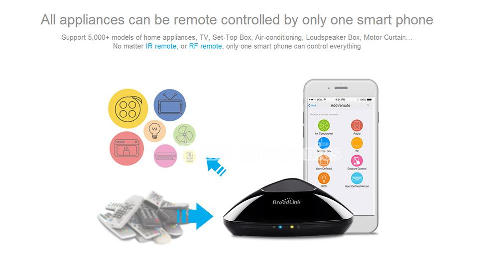 2017 Broadlink RM03 RM PRO Uniwersalny Inteligentny Pilot Smart Home Automation WiFi + IR + RF Przełącznik Poprzez IOS Android Telefon 9