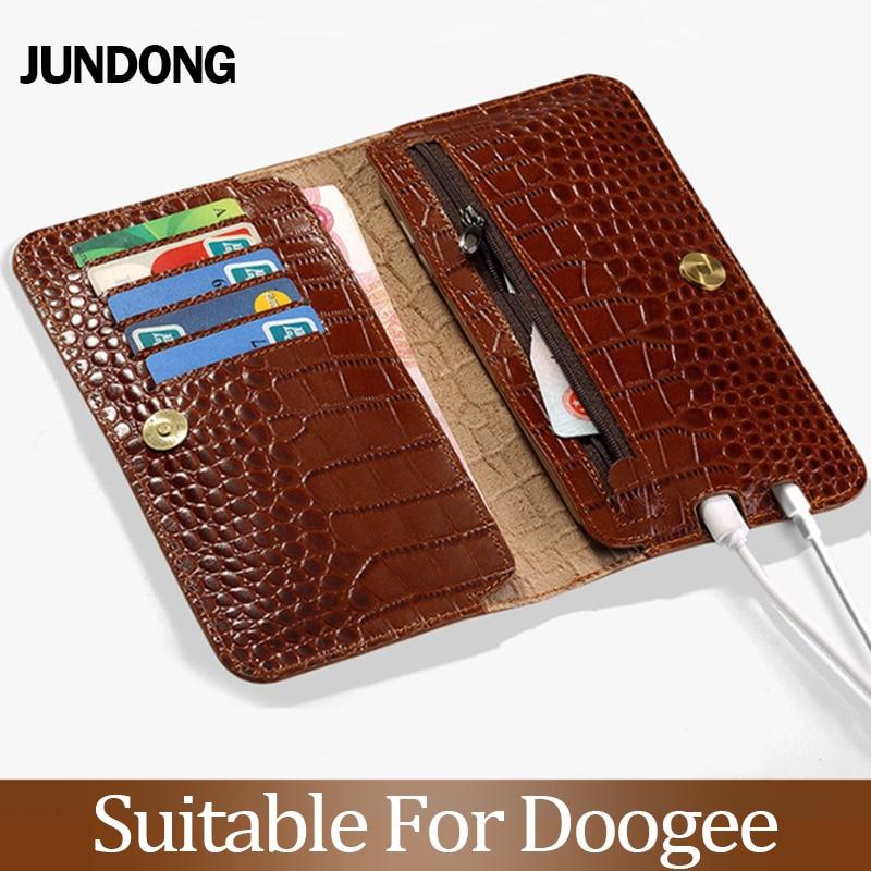 Pour Doogee X3 X9 X20 X10 X30 X50 X5 Max Mix Mix 2 BL5000 BL7000 BL12000 Pro coque Texture Crocodile housse peau de vache téléphone portefeuille