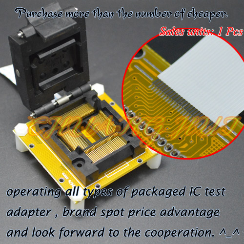 IC TEST TQFP100 to QFP100 test socket LQFP100 QFP100 IC51-1004-814-18 socket Pitch=0.65mm free shipping 95 97 id 108672 108962 size eur 40 46