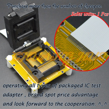IC TEST TQFP100 to QFP100 test socket LQFP100 QFP100 IC51-1004-814-18 socket Pitch=0.65mm free shipping tqfp100 fqfp100 lqfp100 burn in socket otq 100 0 5 09 pin pitch 0 5mm ic body size 14x14mm open top test adapter