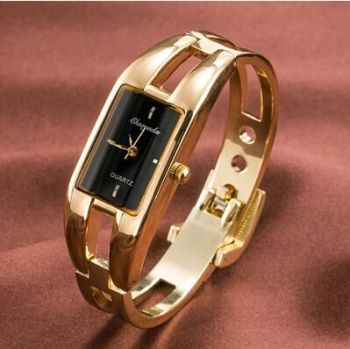 2016 Hot sale fashion Chaoyada watch women ladies square dial stainless steel band quartz watch rose gold women bracelet watch
