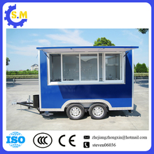 factory supplier mobile fast food cart manufacture cart popsicle ice cream semi car trailer truck