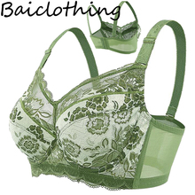 Baiclothing Drop Ship Women's Big Size Full Coverage Non-padded Underwire Unlined Thin Bra 34 36 38 40 42 44 46 48 B C D E F G H(China)