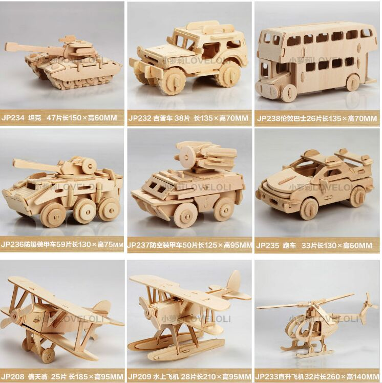 1pcs unfinished 3d animal car wooden toys puzzle for kids model building kits art craft toy for children in puzzles from toys hobbies on aliexpresscom