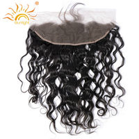 Sunlight Human Hair Brazilian Remy Hair Water Wave Lace Frontal 13X4 Ear To Ear Closure Natural