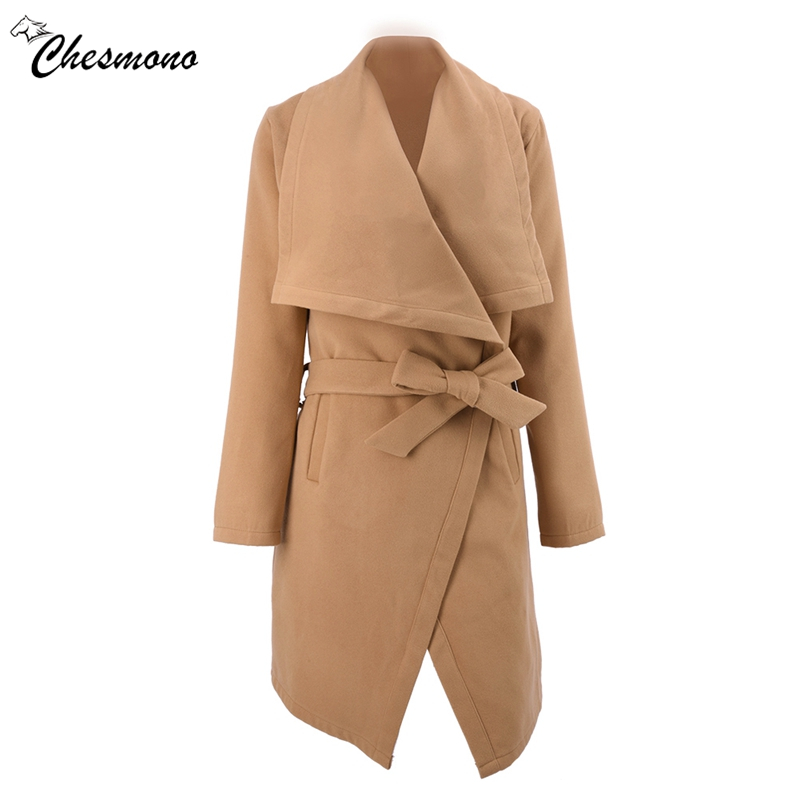 Grand Nouveau Slim En Femmes Manteaux Laine Veste Qualité Ceinture Revers Manteau De Mode Parka Hiver Long Automne Haute Dames rpwqrfXW