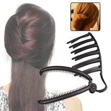 1 Pcs Fashion Rambut Styling Alat Bun Pembuat Braid Alat Rambut Aksesoris  Pro Kualitas Tinggi Hitam 823f4c1859