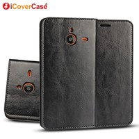 Vintage Luxury Crazy Horse Flip Cover Genuine Leather Case Wallet For Microsoft Nokia Lumia 640 XL
