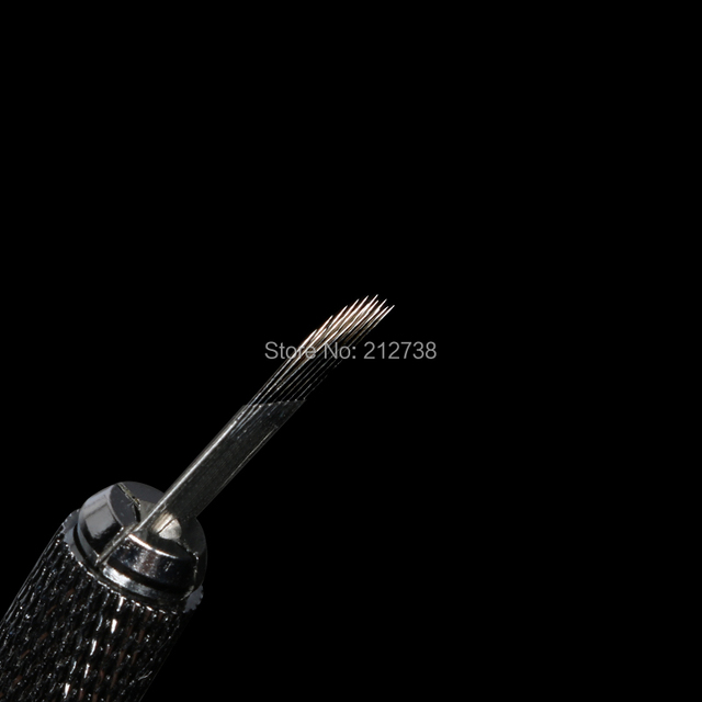 Newest  3 rows Line 18Pins Needle Permanent Eyebrow Makeup Needle Blades For 3D Microblading Pen Manual Embroidery-A0 5