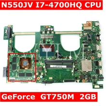 N550JV MAIN_BD._0M/I7-4700HQ/AS V2G GT750M Материнская плата Asus Q550JV N550J N550JV N550JK Материнская плата ноутбука 90NB00K1-R00020